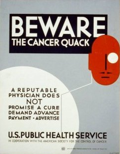 1938 Beware the Cancer Quack USPHS Poster